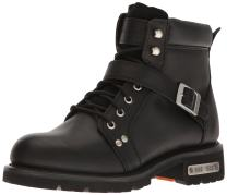 "Ride Tec Men's 9143 6"" Lace Zipper Black Work Boot"