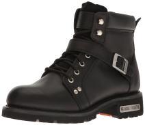 "Ride Tec Men's 9143 6"" Lace Zipper Black Work Boot"