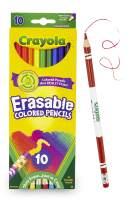 Crayola Erasable Colored Pencils, 10 Count, School Supplies