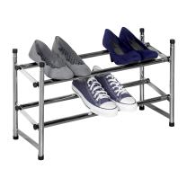Richards Homewares Chrome Stackable Telescoping Shoe Rack