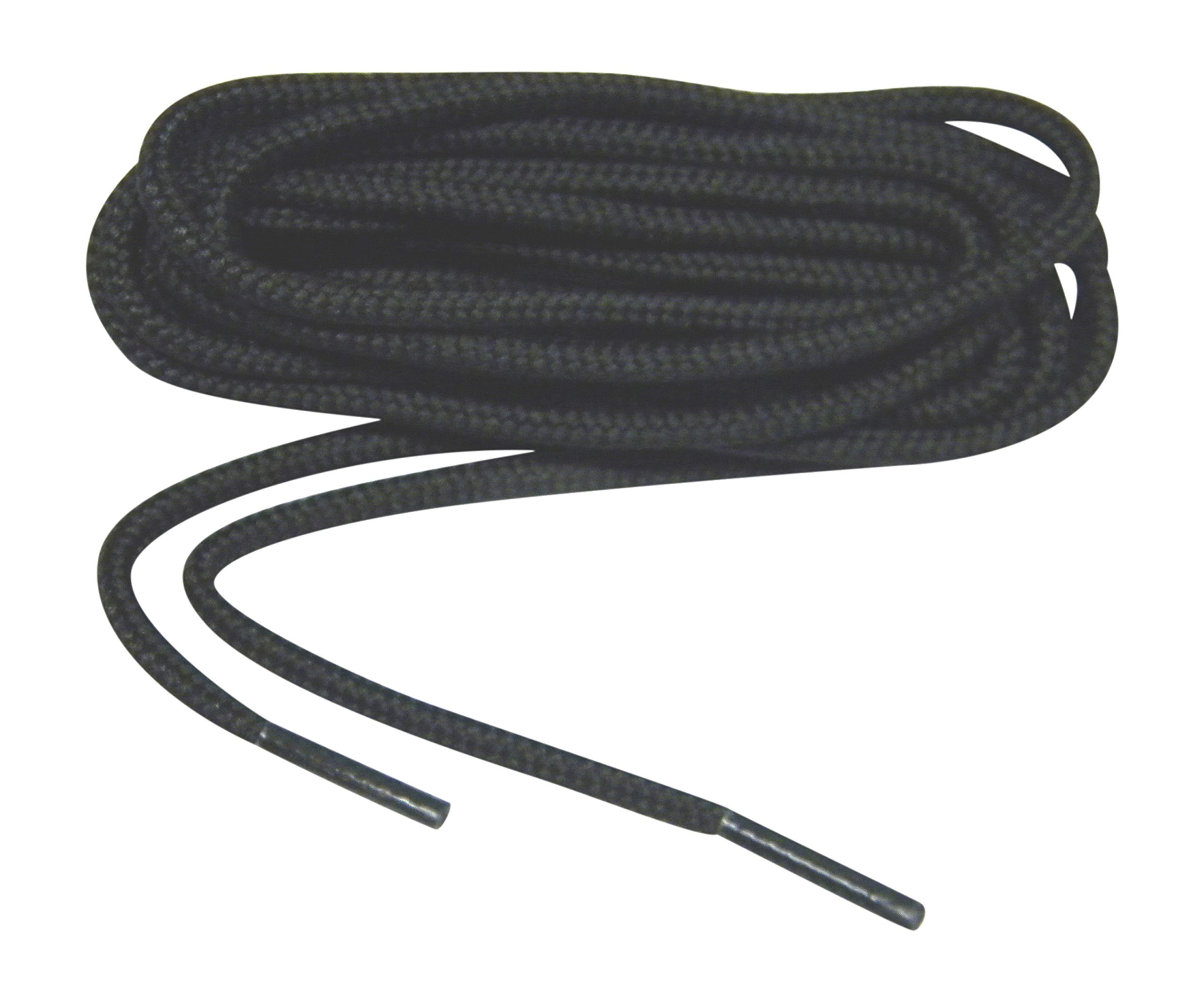 Sport28 2 Pair Pack - 84 Inch Coal Black Rugged Wear 1/8 inch 4mm Thick Heavy Duty Round Boot Laces Long Lasting Shoelaces