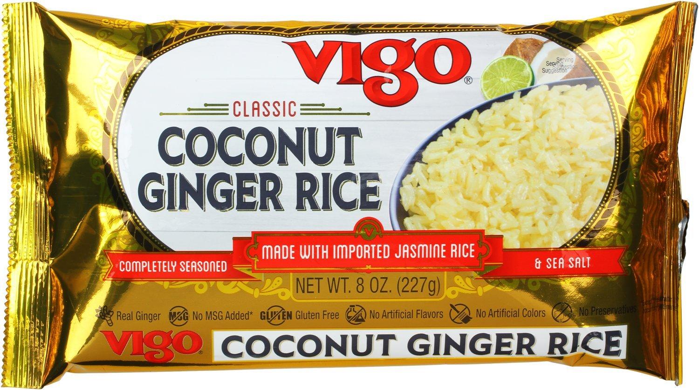 Vigo Coconut Ginger Rice, 8 Ounce (Pack of 12)