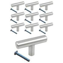 Stainless Steel (10 Pack, L: 2 Inch) Swiss Kelly Hardware Kitchen Cabinet Handles Drawer Pulls