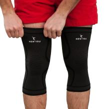 Knee Braces Support Compression Sleeves, 1 Pair FDA Approved Wraps Pads for Arthritis, ACL, Running, Pain Relief, Injury Recovery, Basketball and More Sports (Large)