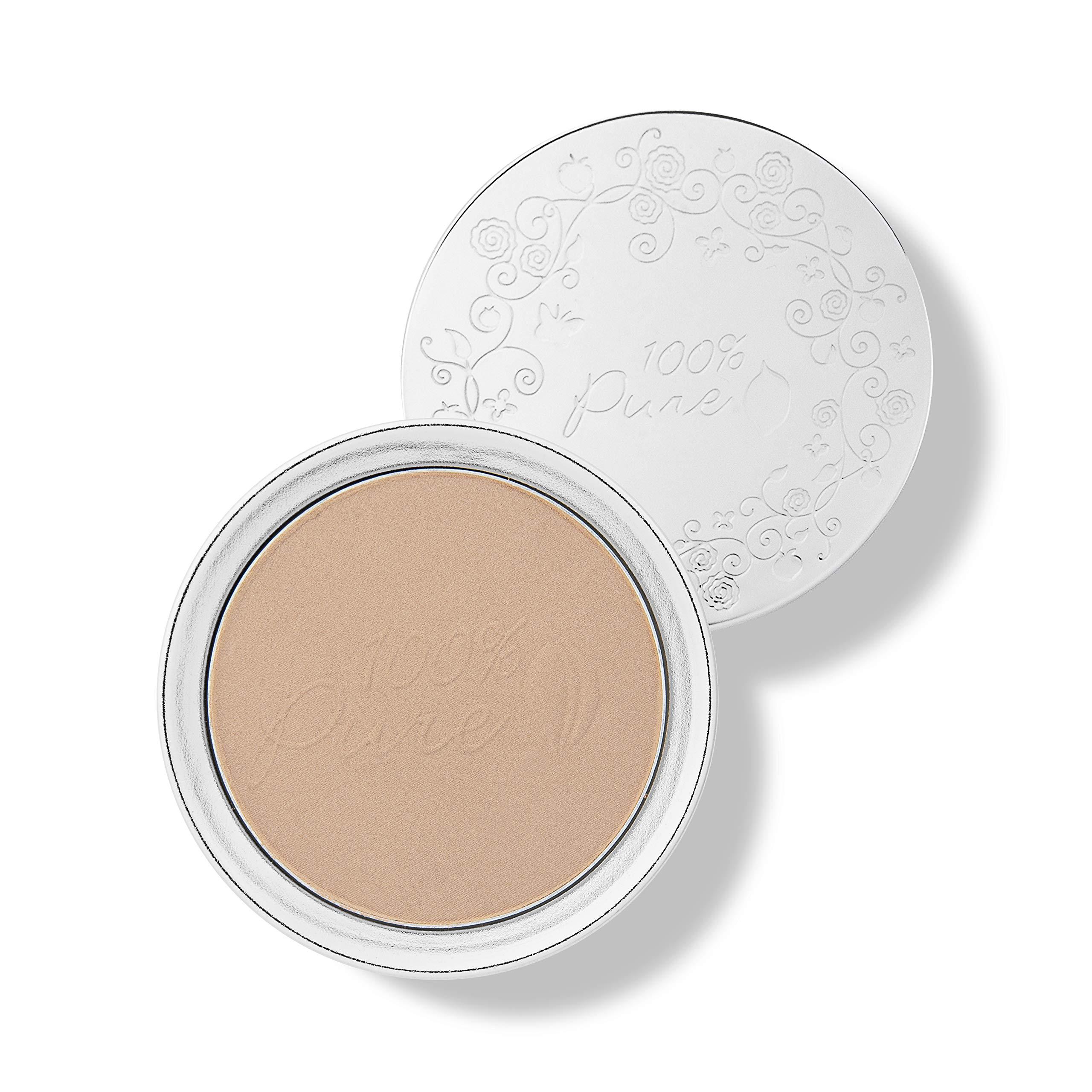 100% PURE Powder Foundation (Fruit Pigmented), Golden Peach, Matte Finish, Absorbs Oil, Anti-Aging, Helps Fight Acne, Natural, Vegan Makeup (Medium-Tan Shade w/Neutral Undertones) - 0.32 Oz