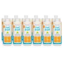 Oxyfresh Fresh Breath Lemon Mint Mouthwash — Award-Winning, Dentist-Recommended Bad Breath Mouthwash - Alcohol Free, Fluoride Free with Aloe and Natural Essential Oils. 12 Pack 16 oz.