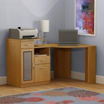 Bush Furniture Vantage Corner Desk, Light Dragonwood