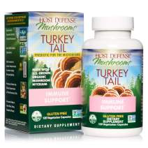 Host Defense, Turkey Tail, 120 Capsules, Natural Immune System and Digestive Support, Daily Mushroom Mycelium Supplement, USDA Organic, 60 Servings