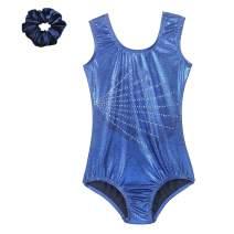 Tigerhu Leotards for Girls Gymnastics Athletic Sparkly Dancewear Activewear