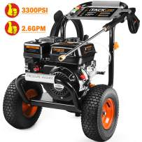 TACKLIFE Gas Pressure Washer, 3300 PSI 2.6 GPM with 6.5 HP, High-Pressure Washer Cleaner Powered by 212cc Engine, Energy-Efficient, 5 Nozzles and 3.8L Detergent Tank