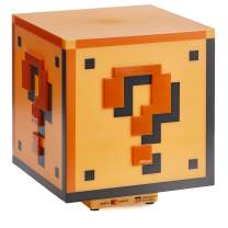 Paladone Super Mario Brothers Question Block Lamp, Light Up Figure