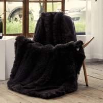 FFLMYUHUL I U Luxury Super Soft Microplush Velvet Blanket Soft Plush Reversible Throw Blanket for Bedroom Chocolate Brown