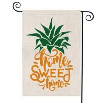AVOIN Home Sweet Home Pineapple Garden Flag Vertical Double Sided, Seasonal Summer Rustic Hawaiian Yard Outdoor Decoration 12.5 x 18 Inch