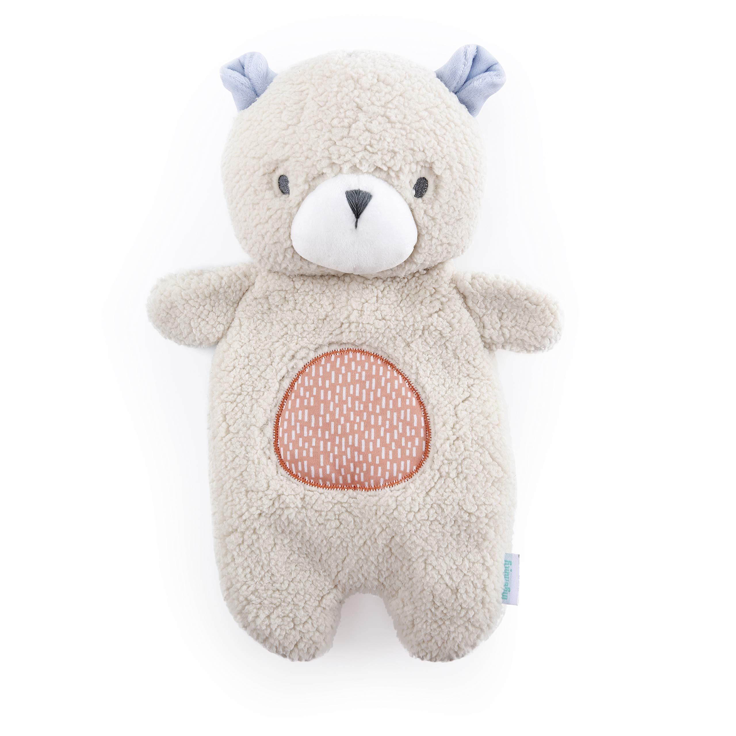 Ingenuity Premium Soft Plush Soothing Bean Bag Lovey - Nate The Teddy Bear, Ages Newborn +