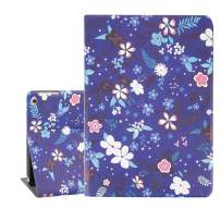 Wildflower iPad Air 9.7 Case,Floral Purple Protective Smart Tablet Case Cover for iPad Air 1 and 2 6th 5th Gen 2018 2017 Auto Sleep Wakeup
