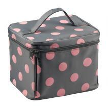 EN'DA Nylon Large Makeup bags Travel makeup bag with quality zipper single layer multifunctional cosmetics bag (Gray)
