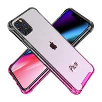 BAISRKE iPhone 11 Pro Case, Slim Shock Absorption Protective Cases Soft TPU Bumper & Hard Plastic Back Cover for iPhone 11 Pro 2019 [5.8 inch] - Black Pink Gradient