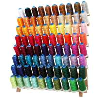 Threadart 80 Spool Polyester Embroidery Machine Thread Sets A&B   1000M Spools 40wt   For Brother Babylock Janome Singer Pfaff Husqvarna Bernina Machines - 2 Sets Available