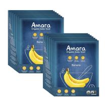 Amara Organic Baby Food | Banana | Homemade Made Possible | Mix with Breastmilk, Formula or Water | Certified Organic, Non-GMO, No Added Sugars | Stage 1 for Babies 6 Months & Older | 2 Pack-7 Each