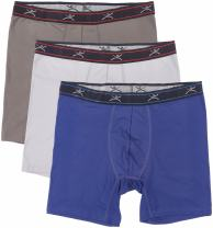 "Terramar Men's Silkskins 6"" Boxer Brief Underwear with Pouch (Pack of 3)"