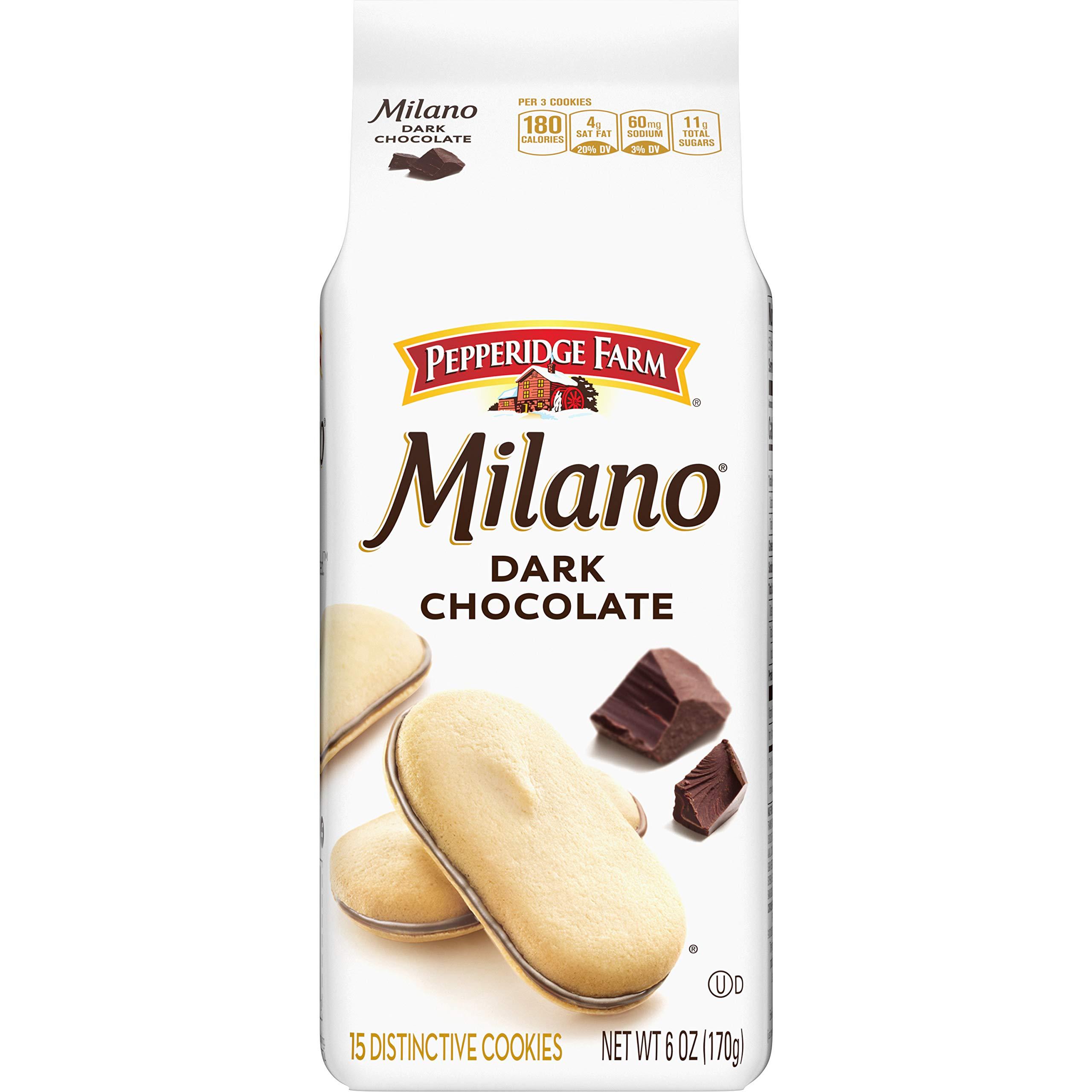 Pepperidge Farm Milano Dark Chocolate Cookies, 6 oz. Bag