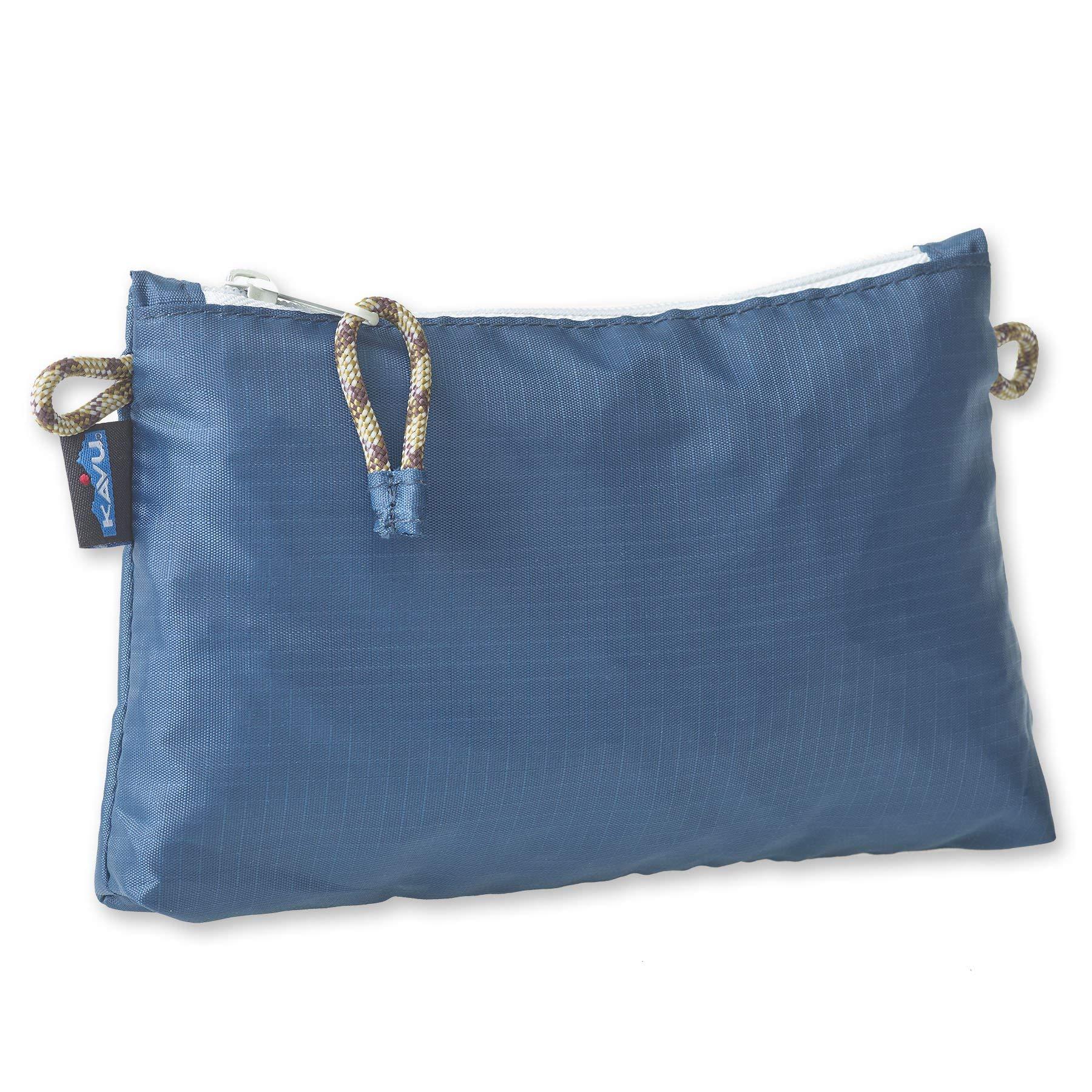 KAVU Ragged Ridge Zip Accessory Pouch Water Resistant Travel Bag - Sapphire