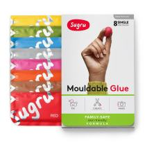 Sugru Moldable Glue - Family-Safe - All-Purpose Adhesive, Suitable for Children - Holds up to 4.4 lb - New Colors 8-Pack