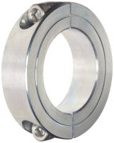 "Climax Metal 2C-231-Z Two-Piece Clamping Collar, Zinc Plating, Steel, 2-5/16"" Bore, 3-1/2"" OD, 3/4"" Width"
