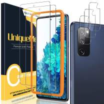 [2+3 Pack] UniqueMe Camera Lens Protector and Screen Protector for Samsung Galaxy S20 FE 5G / 4G / Fan Edition 5G 6.5 inch Tempered Glass【Not for Samsung S20 6.2 inch】HD Clear [Anti-Scratch]