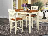 3 Pc counter height pub set - Kitchen dinette Table and 2 Kitchen bar stool.