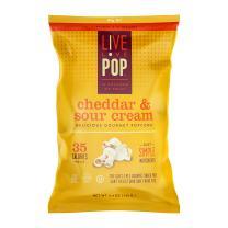 Live Love Pop Cheddar & Sour Cream Popcorn 4.4 oz. (12 pack) …