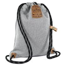 LOCTOTE Flak Sack II - World's Toughest Theft-Resistant Drawstring Backpack | Slash-Proof | Lockable | Portable Safe (Heather Grey)