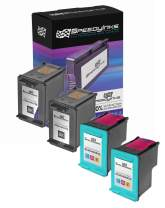 Speedy Inks Remanufactured Ink Cartridge Replacements for HP 98 and HP 95 (2 Black, 2 Color, 4-Pack)