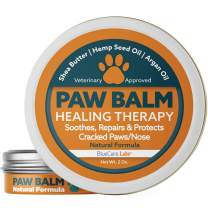 Dog Paw and Nose Balm Natural & Organic - Paw Soother Cream Moisturizer for Dog Pads |Paw Wax Protection for Cracked Paws Repairs and Heals Paw Pads Dry Chapped Paw Butter Made in the USA