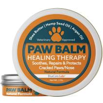 Dog Paw and Nose Balm Natural & Organic - Paw Soother Cream Moisturizer for Dog Pads  Paw Wax Protection for Cracked Paws Repairs and Heals Paw Pads Dry Chapped Paw Butter Made in the USA