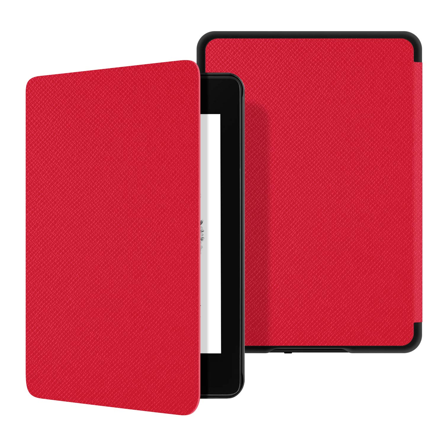 Ayotu Water-Safe Leather Case for Kindle Paperwhite 2018 - Durable Smart Leather Cover with Auto Wake/Sleep fits Amazon the latest Kindle Paperwhite (10th Generation-2018),K10 Red