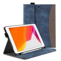 apiker New iPad 7th Generation 10.2 Case 2019 with Pencil Holder- Multiple Viewing Angles/Auto Wake & Sleep Case for iPad 7th Gen 10.2 Inch 2019 Released, Blue