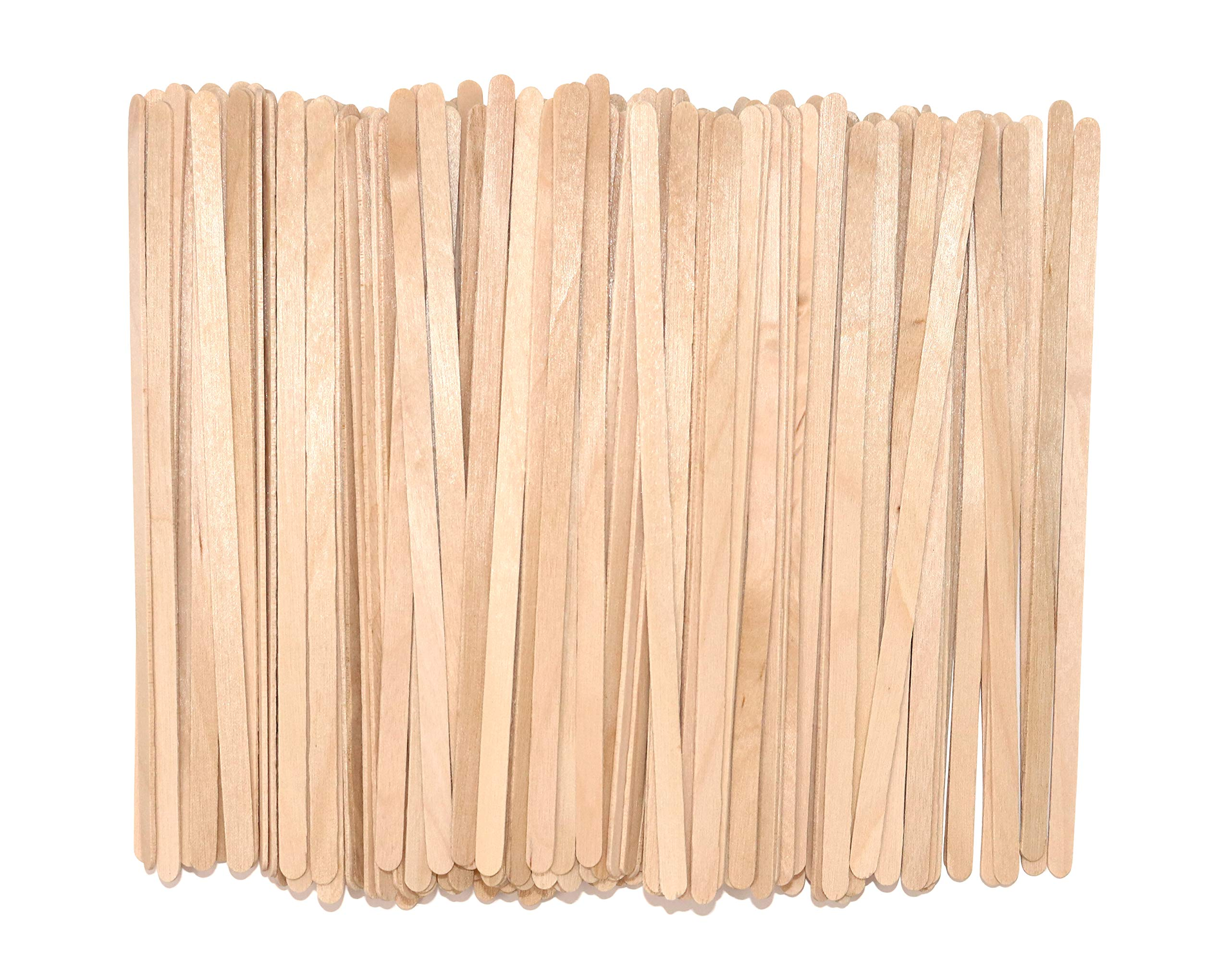 Coffee Stirrer Sticks, Made From Birch Wood, Eco-Friendly Wood Stirrers, 5.5 Inches Long, Smooth with Round Ends, Natural Color, 1,000/Box