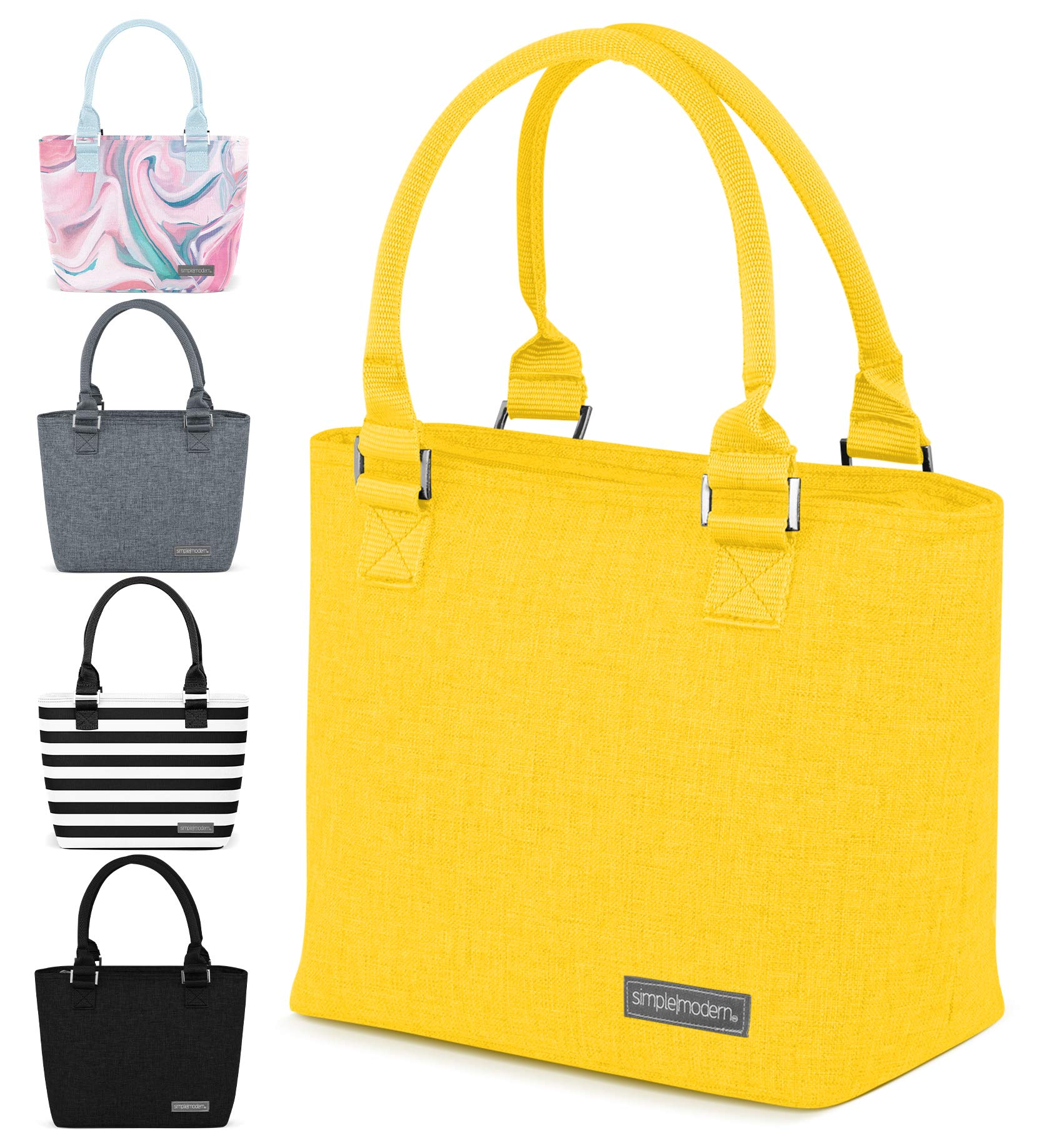 Simple Modern 4L Cara Lena Lunch Bag for Women - Yellow Insulated Lunch Box -Sunshine
