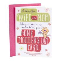 Hallmark Mother's Day Card for Wife (Five Cards in One)