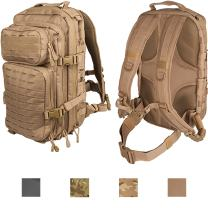 Lancer Tactical All-Purpose High Performance 3-Day Back Pack Heavy Tension Laser Cut MOLLE PALS Hydration Capable PVC Coated Device Friendly Trek Bug Out Hiking Ready Office School
