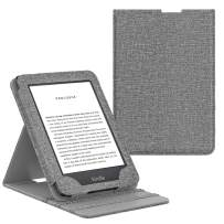 MoKo Case Fits All-New Kindle (10th Generation, 2019) / Kindle (8th Generation, 2016), Premium Vertical Flip Cover with Auto Wake/Sleep Function - Denim Gray