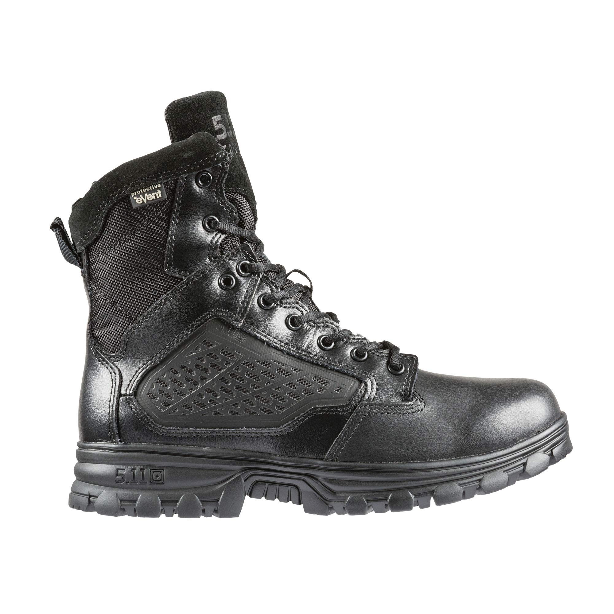5.11 Tactical EVO 6-Inch Waterproof Boots, Side Zip, Oil/Slip-Resistant Outsole, Style 12313
