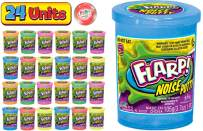 JA-RU Flarp Noise Putty Scented (24 Pack Assorted) Squishy Sensory Toys for Easter, ADHD Autism Stress Toy, Great Party Favors Fidget for Kids and Adults Boys & Girls. Plus 1 Bouncy Ball 10041-24p