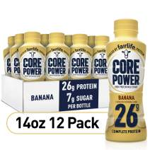 Core Power Protein Shakes (26g), Banana, Ready To Drink for Workout Recovery, 14 Fl Oz Bottles (12 Pack)- Packaging may vary