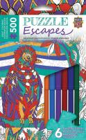 MasterPieces Puzzle Escapes Quetzal 500 Piece Coloring Jigsaw Puzzle by Pamela J. Smart