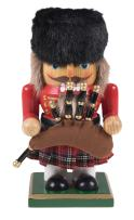 """Clever Creations Traditional Chubby Scottish Nutcracker Collectible Short Nutcracker 