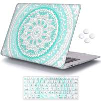 iCasso MacBook Air 11 inch Case Model A1370/A1465, Ultra Slim Pattern Plastic Hard Shell Case Protective Cover Compatible MacBook Air 11'' with Keyboard Cover - Blue&White Medallion