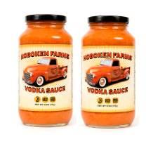 Hoboken Farms Vodka Sauce - Keto Certified, No Sugar Added, Gluten Free, Vegetarian, Plant Focused Gourmet Pasta Sauce (2-Pack)