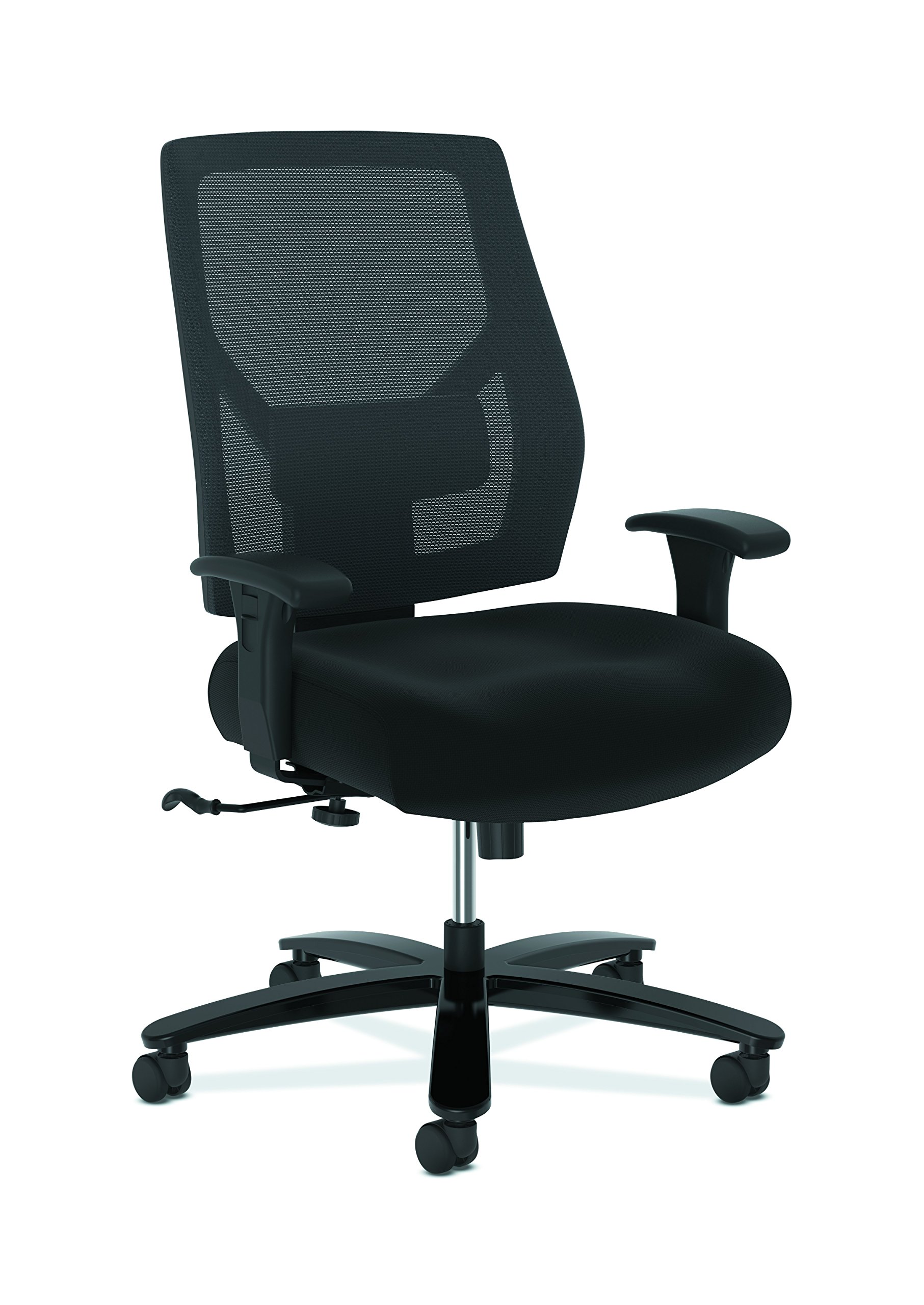 HON Crio High-Back Big and Tall Chair - Fabric Mesh Back Computer Chair for Office Desk, in Black (HVL581)